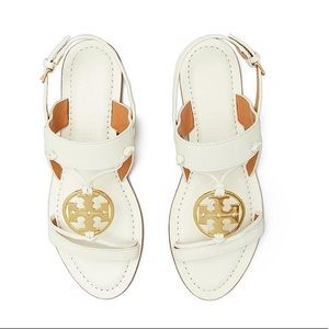 Tory Burch Miller Two-band Sandal In White